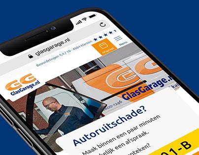 GlasGarage (car window damage) Website, Multi Step Form