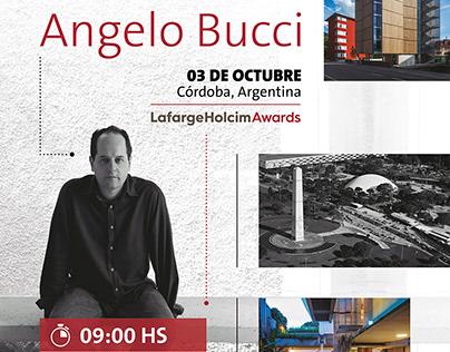 Afiche Visita Angelo Bucci, Holcim Argentina