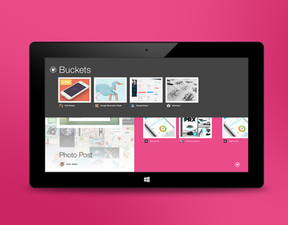 Dribbble for Windows 8 (Concept)