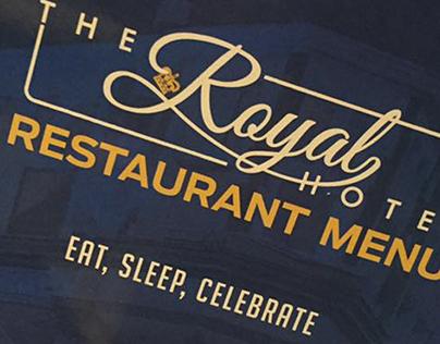 Royal Hotel Sheerness, Restaurant menu