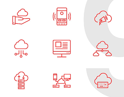 Icons For Cloud Computing