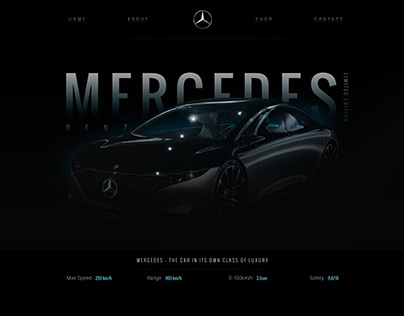 Web design lading page - automotive industry