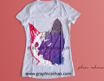 Custom Watercolor Tshirt design By graphicsohan