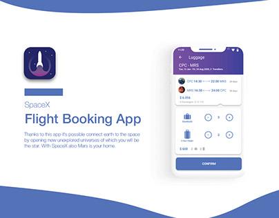 SPACE X UX/UI DESIGN // Flight Booking App