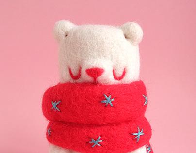 Marshmallow Bear Art Toy