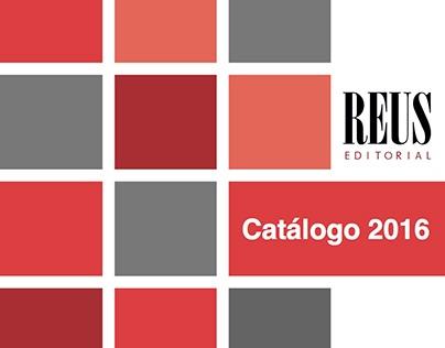 Catálogo Editorial Reus 2016