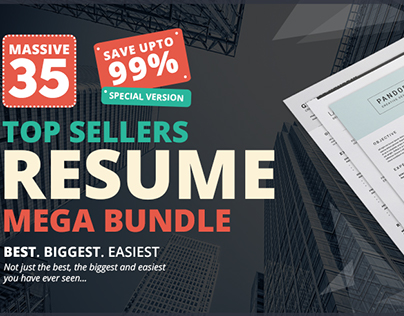 The #1 Top Sellers Resume Mega Bundle
