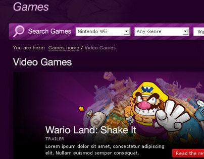 Virgin Media - Games re-skins