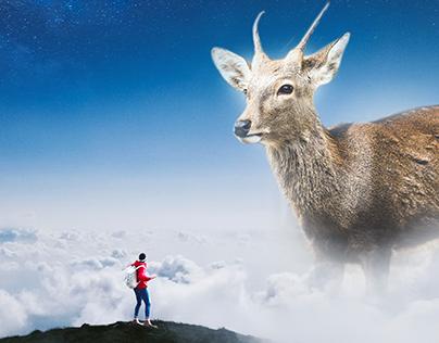 Photomanipulation - Gigantic Deer