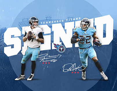 Tennessee Titans Concept Social Graphics