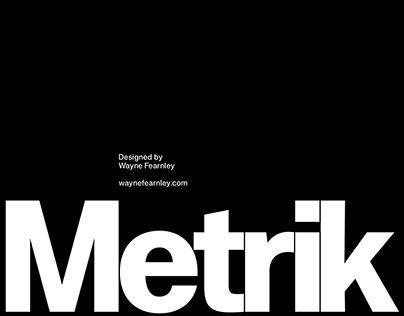 Metrik Typeface