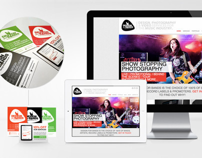 www.designforbands.co.uk - Branding and Web Build