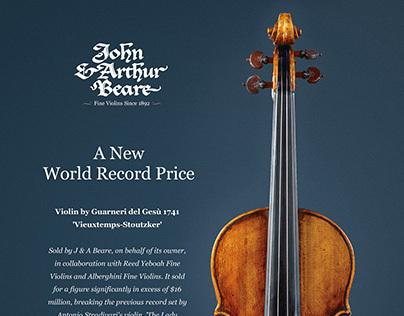 J.A Beares Violins - Advertisements