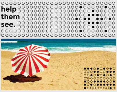 Color + Light: A Braille Exhibit event poster