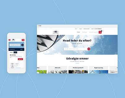 Webshop for Dansk Standard
