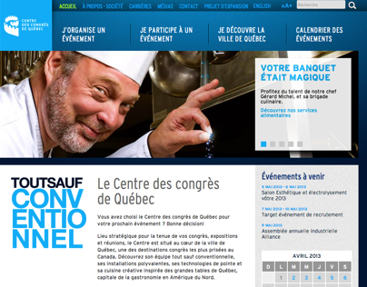 Centre des congrès de Québec - Site web