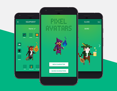 Pixel Avatars - A concept companion app for D&D