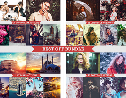 BEST OFF Photoshop Actions Bundle