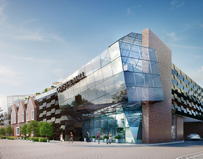 3D EXTERIOR RENDER OF THE SHOPPING MALL
