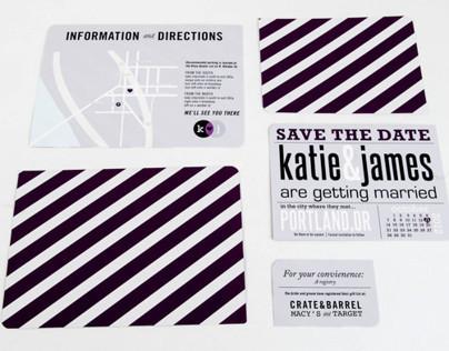 Kate & James Wedding Invitation