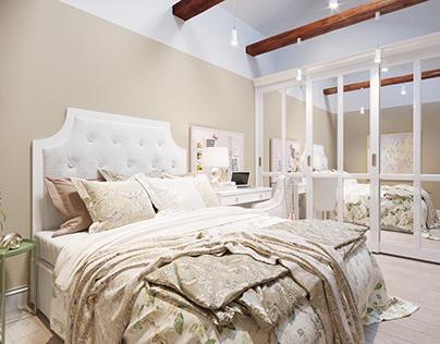 Delicate bedroom, 10.6 m2