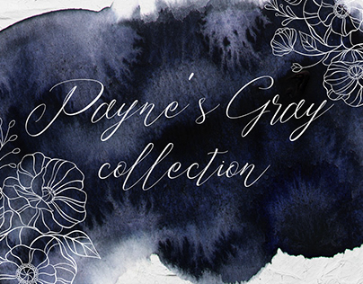 Payne's Gray textures and ornaments collection