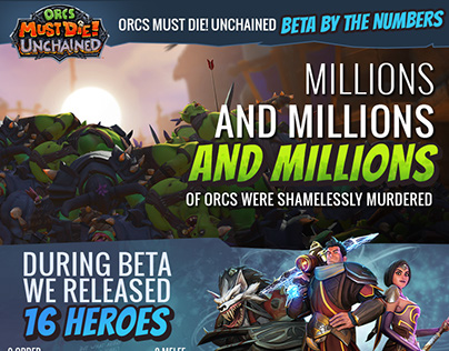Infographics created for Orcs Must Die!