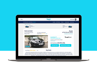 Regit.Cars - Used Car Page Responsive Design