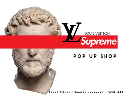 Louis VuittonxSupreme Mock Pop Up Shop