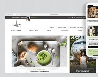 sisterMAG Website Relaunch & Branding