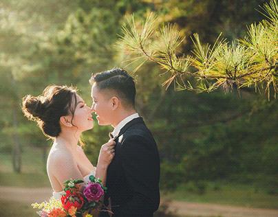 Ảnh cưới Đồi Cỏ Hồng Đà Lạt đẹp Của Onelike Studio