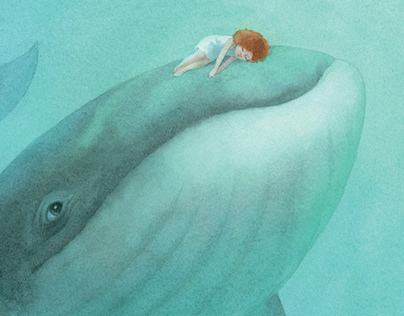 "illustrations for the book ""Small Whale"""