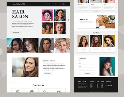 Hair Salon Landing Page Design