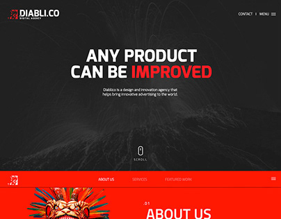 Diabli.co HTML 5 Template Design (Themeforest)