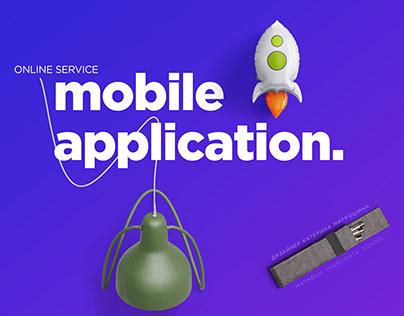 Концепция главной страницы сайта мобильного приложения