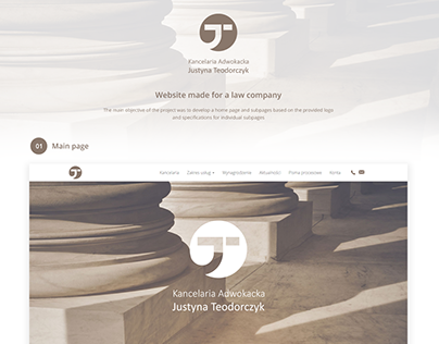 Website for law company