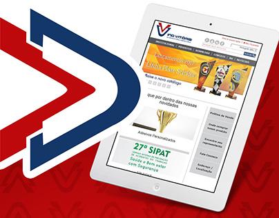 Ind. Vitória: Desenvolvimento de site e App