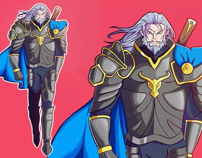 Veteran Knight character concept