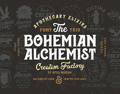 Bohemian Alchemist Fonts & Badges