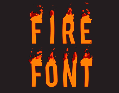 Fire Font - Free Animated typeface - After Effects