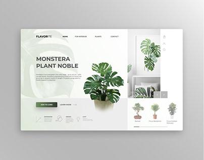 Идея для сайта по продаже комнатных растений