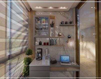 Small Balcony design / Amman - Jordan