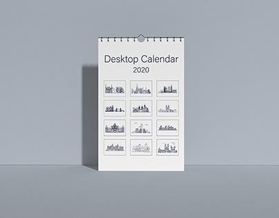 Desktop Calendar Template 2020