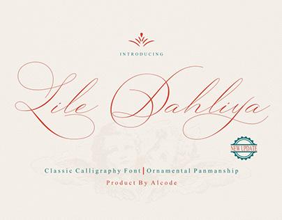Lile Dahliya - Classic Calligraphy Font