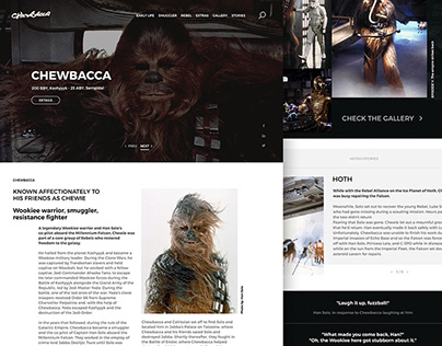 Website for Chewbacca - Star Wars