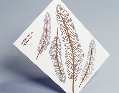 Birds Of A Feather—Letterpress Cards