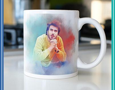 Custom print on demand on mug