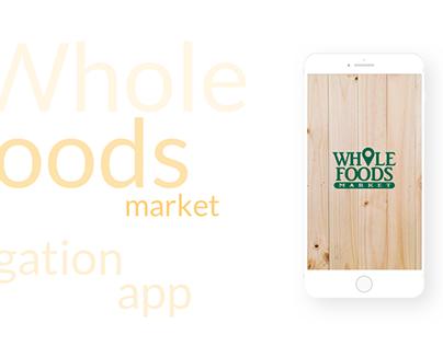 Whole Foods market navigation