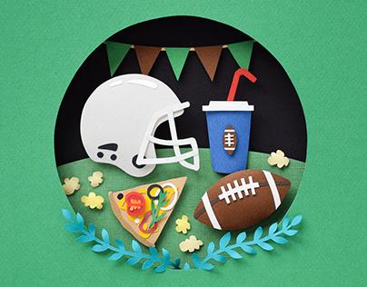 Super Bowl | paper art