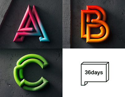 36 Days of Type 2018 - 3D Printed